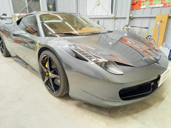 フェラーリ458ハイモースコート施工。