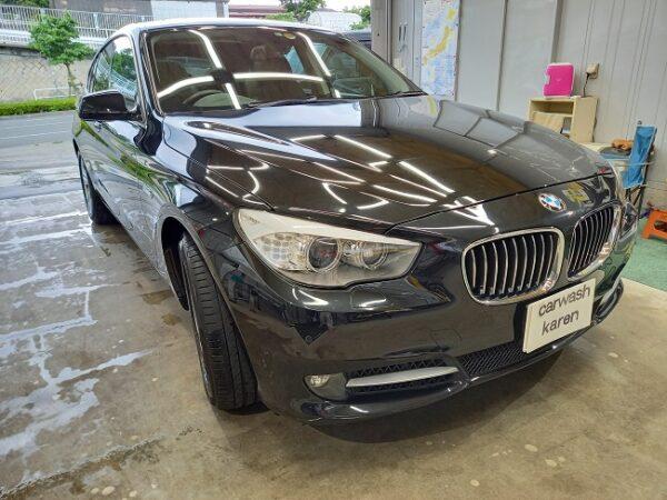 BMW 535i 持ち込み洗車。
