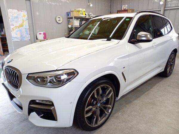 BMW X3 ハイモースコート施工。